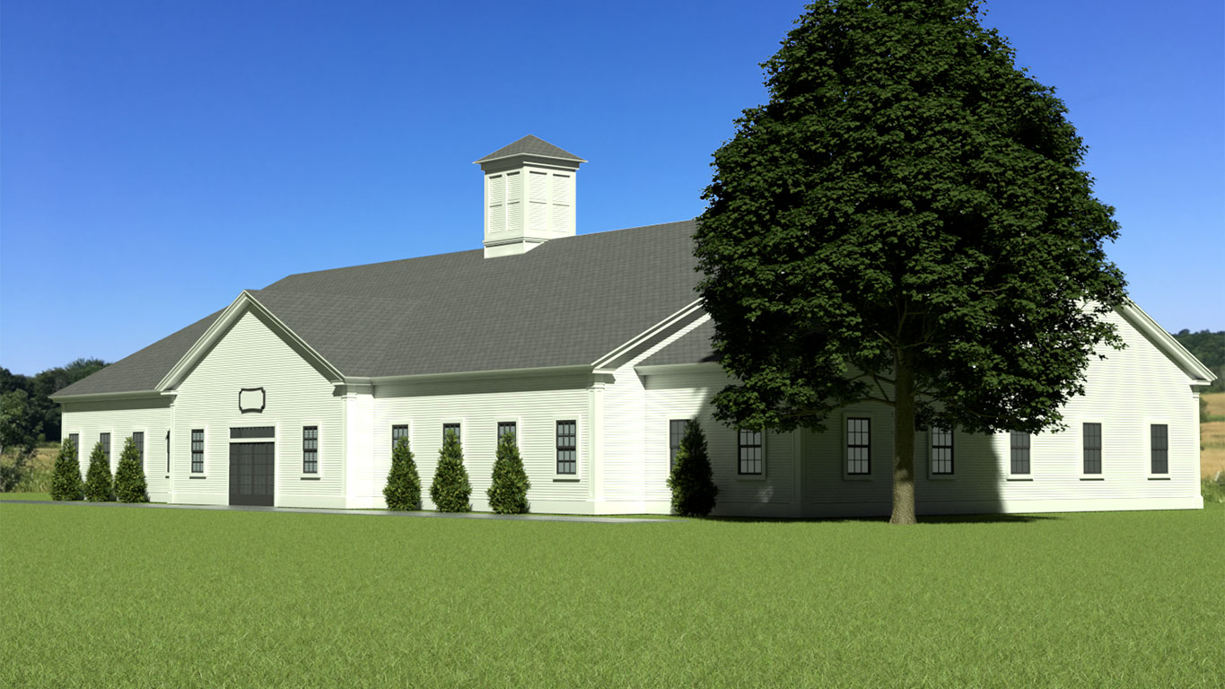 TCE3D Rendering: Pittsford Greek Revival
