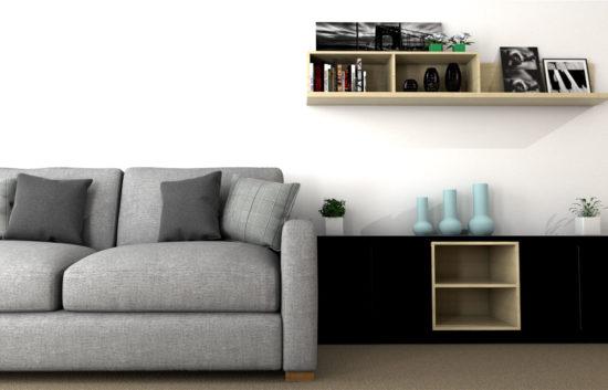 3D Interior design for Williston Place Independent Senior Living Living Room