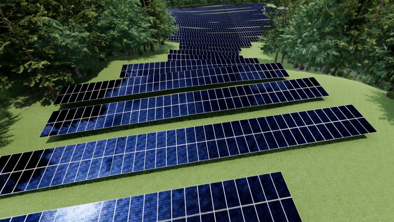 Virtual Reality Solar Array Renderings