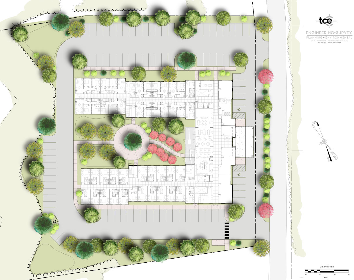 TCE3D Rendering Landscape Newport VT